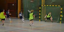 Hjortsjöskolan tar ledningen med 1-0.