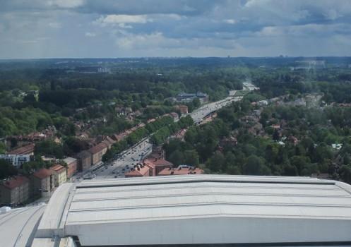 8 IMG_0861 Utsikt från Globen mot söder Skarpnäck och Skogskyrkogården i fjärran