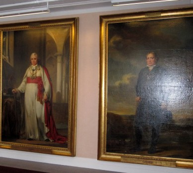 9 IMG_0799 Riksdagshuset, Stockholm, guide Meeri Wasberg , tavlorna föreställer tre av de fyra stånden, borgare, pr