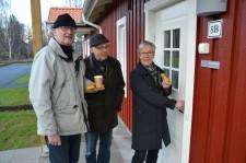 Leif Cassel, Lars-Erik Joakimson och Barbro Cassel.