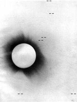 11 Negative photo of the 1919 solar eclipse node full image