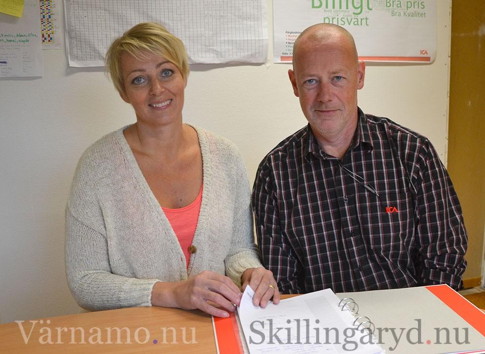 Camilla och Jonas Hugosson flyttar från Vaggeryd efter 15 år.