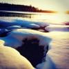 261. Långasjön en dag i februari. Foto:  Ramona Drescher. 150822