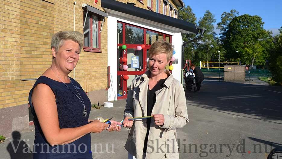 Maria hasselström och barn- och utbildningsnämndens ordförande Viktoria Önneby.