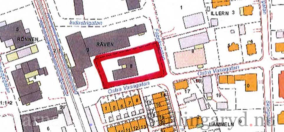 Det är det området som är inringat med rött som planeras för bostäder.