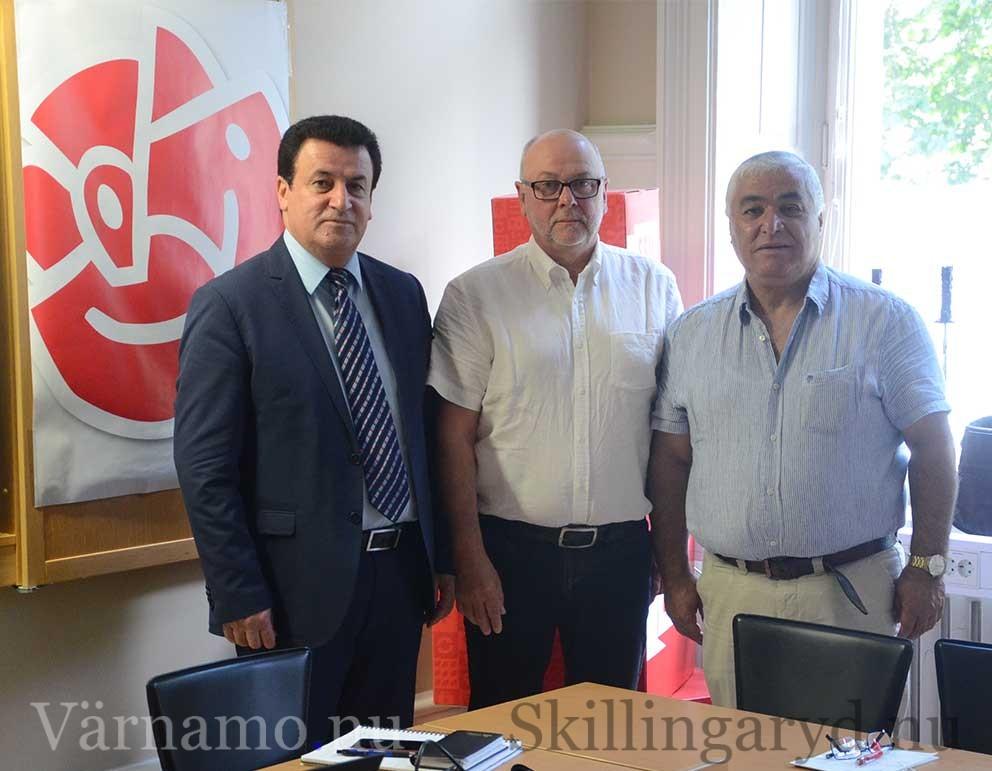 Från vänster: Fahmi Mansur, Thomas Strand, Gabriel Marco. Foto: Simon Johansson